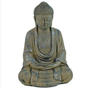 boeddha in lotushouding kleur grijs