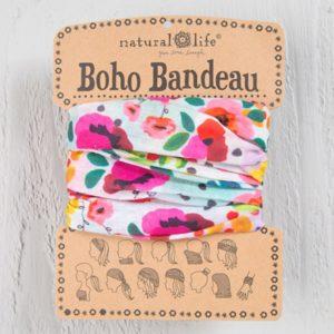 boho bandeau van natural life. op veel verschillende manieren te dragen zoals: haarband, bandeau, sjaal,haarband etc. Pink Floral Polka Dot