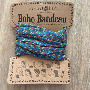 boho bandeau van natural life. op veel verschillende manieren te dragen zoals: haarband, bandeau, sjaal,haarband etc. retro green