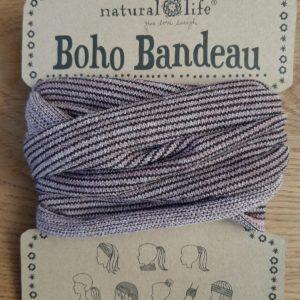 rose kleurige bandeau met glitters en streeptjes. op veel verschillende manieren te dragen zoals haarband,elastiek,sjaal of bandeau