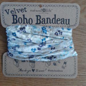 oho bandeau van natural life. op veel verschillende manieren te dragen zoals: haarband, bandeau, sjaal,haarband etc. velvet bloemen print groen