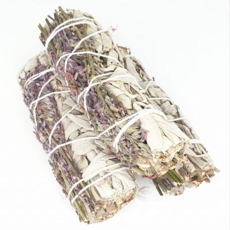 witte salie rollen ombonden met lavendel