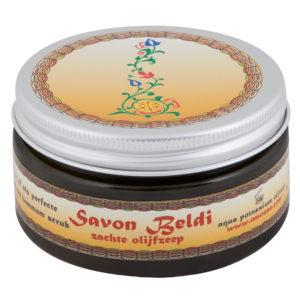 Zachte olijfzeep Savon Beldi 100gr met Nederlands etiket