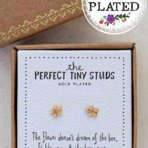 kleine gouden bloemetjes oorbellen